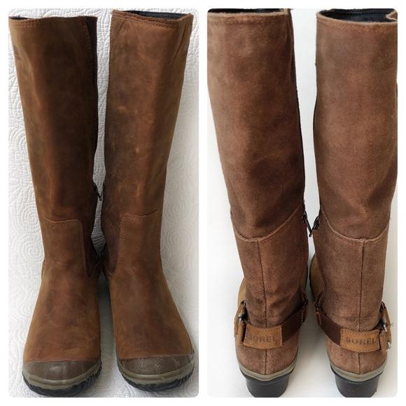 d494522f571 Sorel slimboot waterproof leather distressed boots
